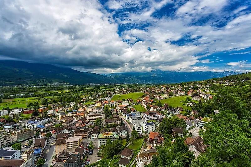 Vaduz, a capital do Liechtenstein.
