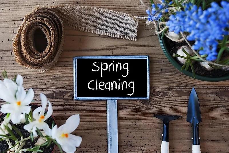 A primavera está a apenas alguns dias, portanto pode ser um bom momento para começar a pensar em limpeza de primavera.