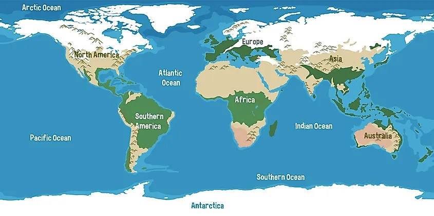A lake is a body of water surrounded by land that does not connect to the sea. Deepest Oceans And Seas Worldatlas
