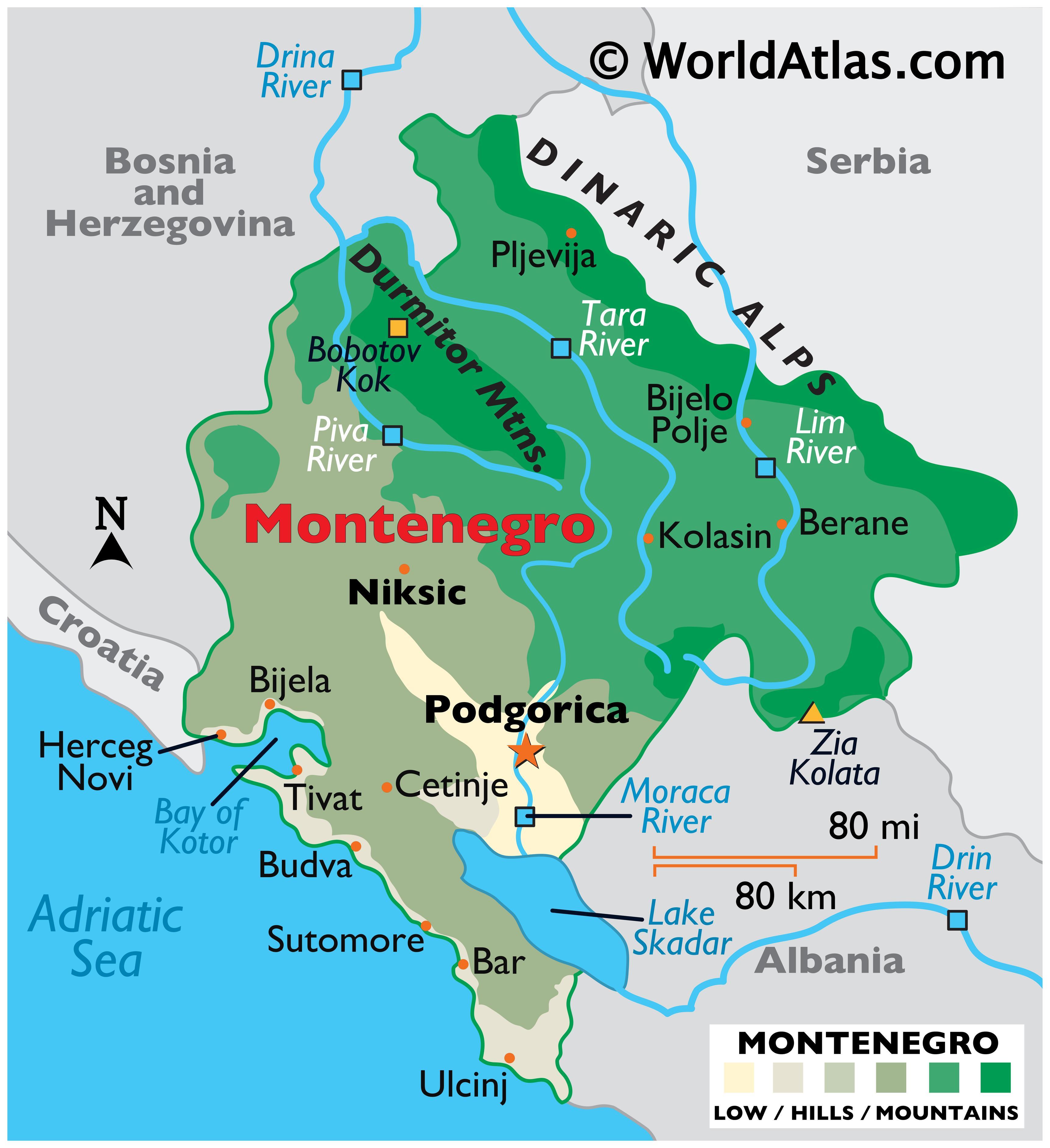 Montenegro Maps Facts World Atlas