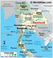 Thailand Maps Facts World Atlas
