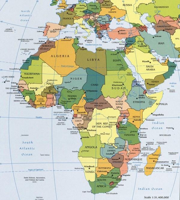 Political Map of Africa Worldatlascom