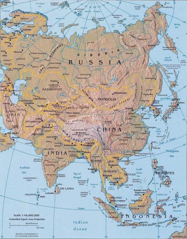 Landforms of Asia Mountain Ranges of Asia Lakes Rivers
