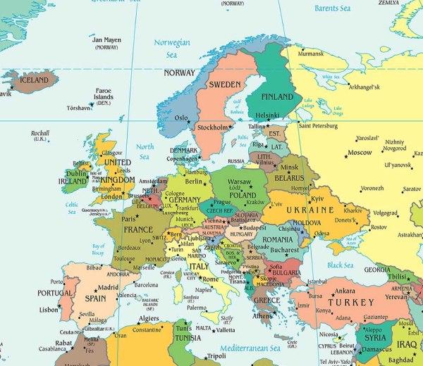 Europe Political Map Political Map of Europe Worldatlascom