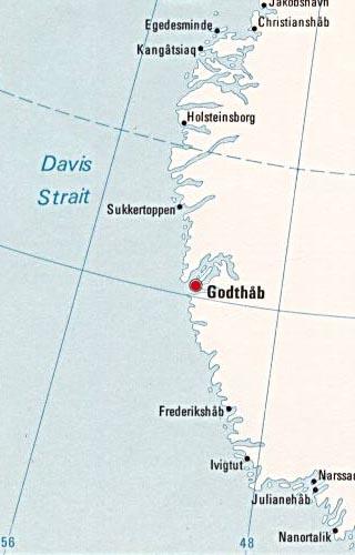 Greenland Latitude Longitude And Relative Location