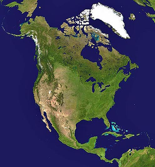 North America Map Map of North America Facts