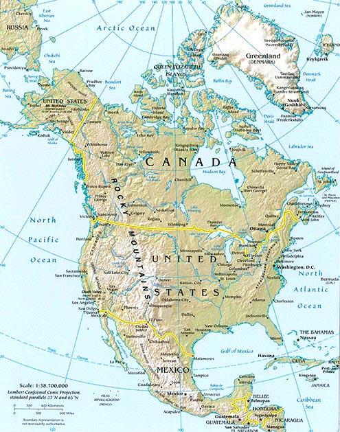 north america map map