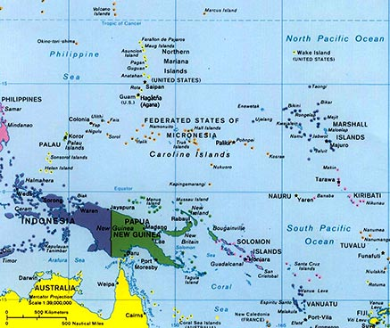 west pacific islands map
