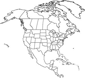 Outline Maps for Continents, Countries, Islands States and