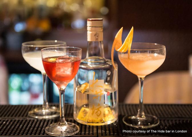 Baijiu Cocktails by The Hide bar in London 2