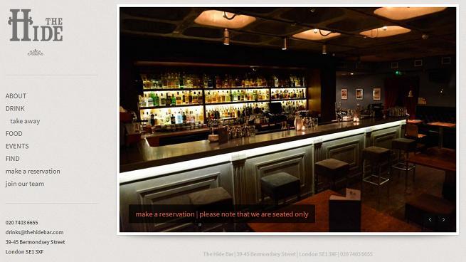 The Hide bar in London World Baijiu Day screen grab