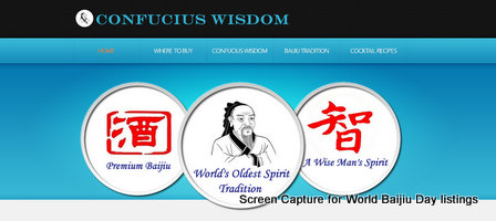 Baijiu Producer Listings Confucius Wisdom United States