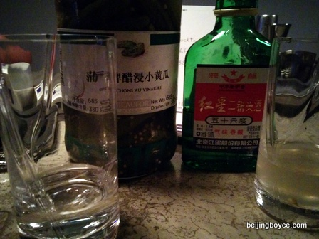 pickleback beijing jamesons red star baijiu pickle juice