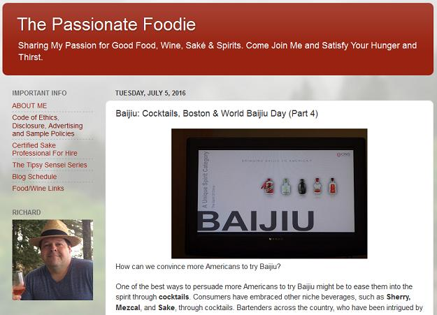 richard auffrey passionate foodie blog world baijiu day interview screen shot