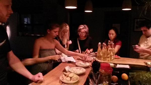 WBD Wrap baijiu meat and cheese at Capital Spirits photo by CS