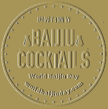 world baijiu day cocktails logo gold
