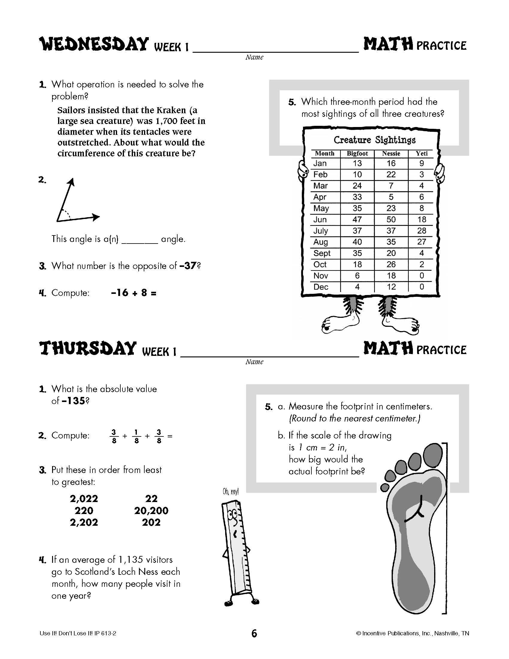 hight resolution of Daily Math Practice Grade 7: Use It! Don't Lose It!   World Book