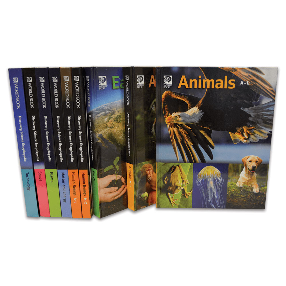 hight resolution of  discovery science encyclopedia spines