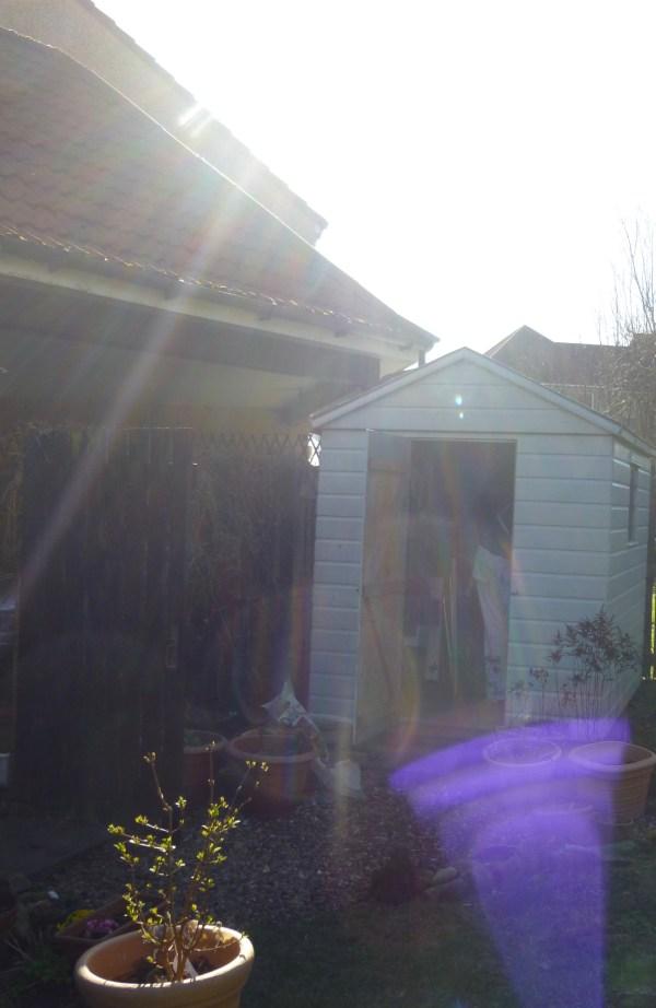 Purple vortex in the garden just after solar eclipse March 2015