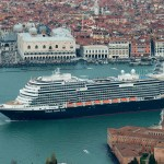 The Koningsdam in Venice before Covid-19 brought the cruise industry to a halt. ©Carnival Corp