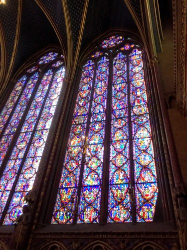 Stained glass windows in Sainte Chapelle