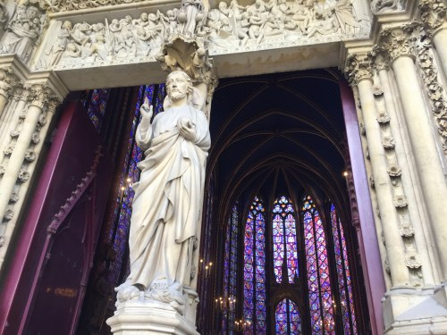 The balcony of Sainte Chapelle