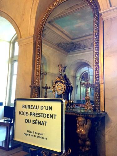 Bureau d'un vice-president du senat en Palais du Luxembourg