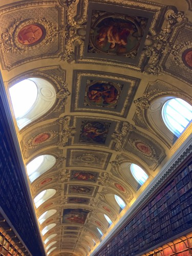 Ceiling in library of the Senat in Luxembourg Palace