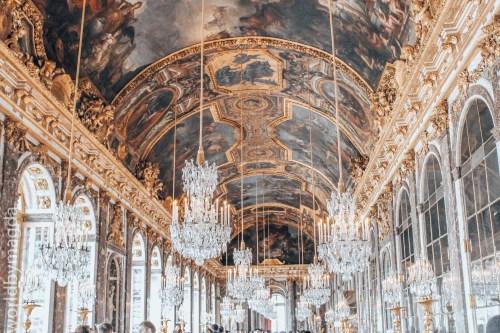 Sala Luster w Pałacu w Wersalu
