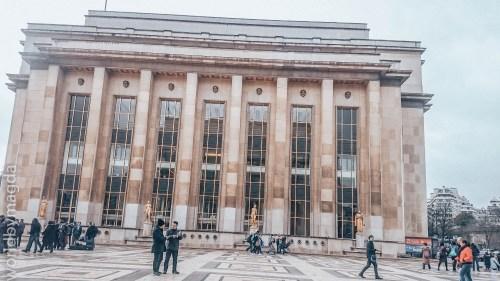 Budynek Muzeum Człowieka na Trocadero