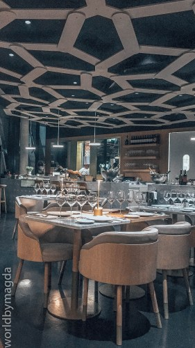 Restauracja w La Cite du Vin w Bordeaux