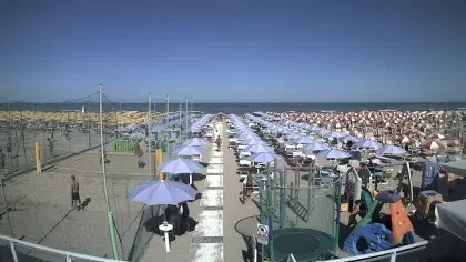 Pinarella Di Cervia  Bagno Angela 119 Italia  Webcams