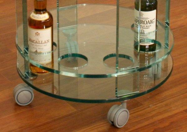 Arredamento carrello portaliquori in vetro Porta liquori