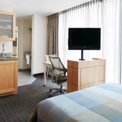Hotel With Kitchen In Room Storage Ideas For Small Spaces One Suite World Center Lower Manhattan