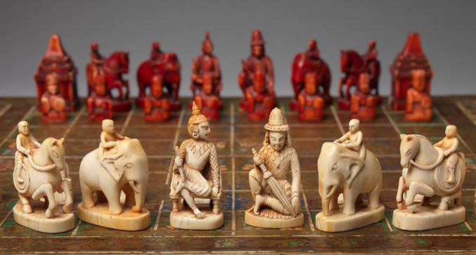 Image result for Indian chess pieces