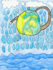First Place: Earth Tea Pot by Amie W., Dublin Ohio