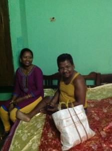 Sasmita with Ajit