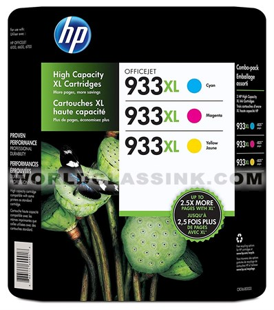 HP CR316BN Ink Cartridge HP 933XL Color Combo Pack CR316FN