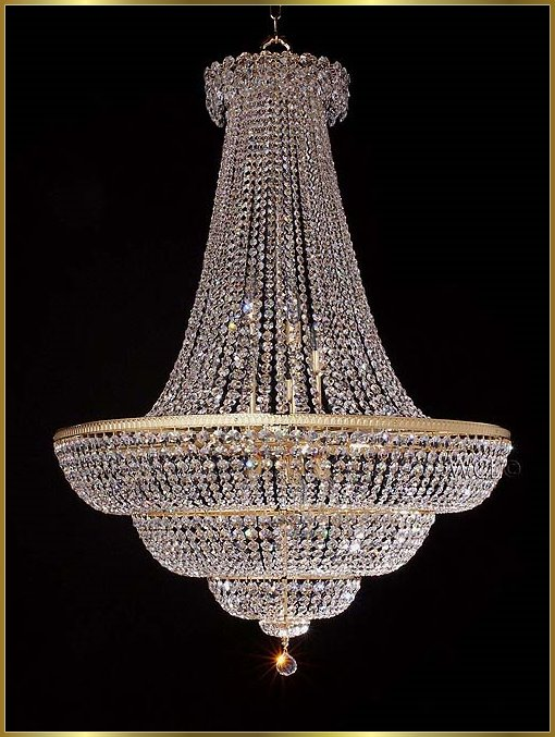 24kt gold large crystal chandeliers