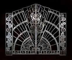 Image result for Rene Chambellan's 1928 wrought iron and bronze gates to in the Chanin building in New York