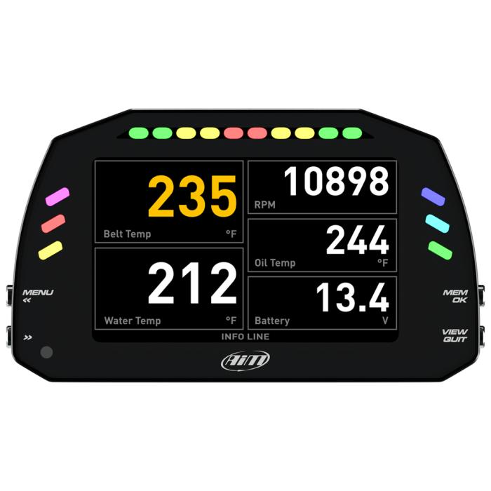 Data logger AiM MXS TFT Digital Display and Dash Logger shop store racing
