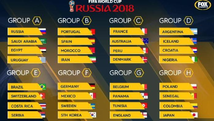 World Cup 2018 full schedule