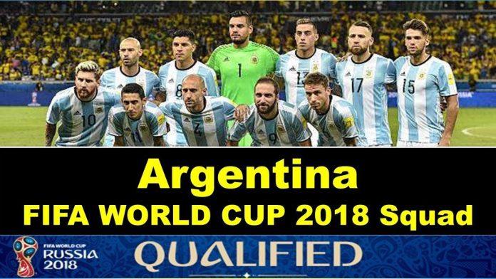 argentina football team 2018 world cup