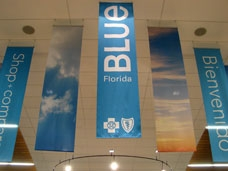 Fabric Banner on roof