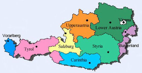 Austria Regions Map