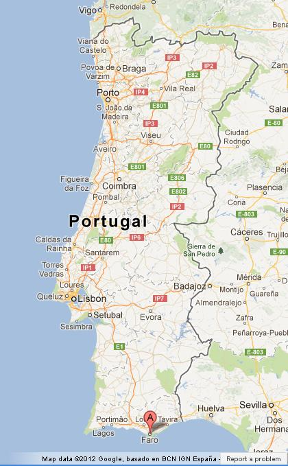 Faro On Map Of Portugal