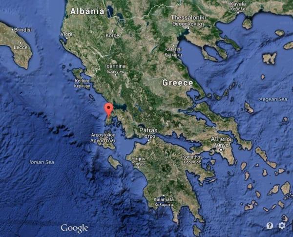 Where is Lefkada map Greece