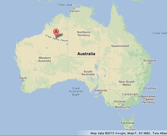 Australia Great Victoria Desert Map Desserts Circled Its
