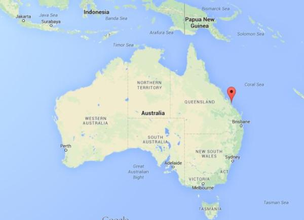 Where is Great Keppel Island on map Australia