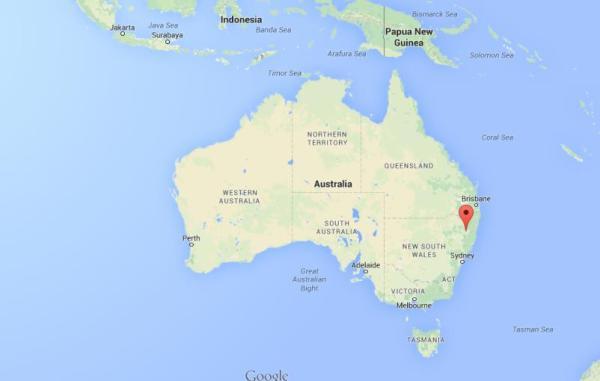 Where is Armidale on map Australia